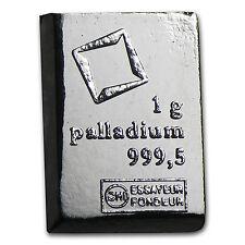 1 gram Palladium Bar - Valcambi Suisse - SKU #85344