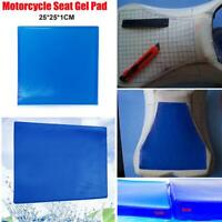 Motorcycle Seat Gel Pad Shock Absorption Mat Comfortable Soft Cushion Blue