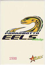 2005 SELECT NRL CLUB LOGO JUMBO: PARRAMATTA EELS #1500/1500 LAST CARD MADE 1/1