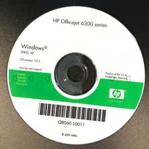 Setup CD ROM for HP OfficeJet 6300 Series Software for Windows 2000, XP