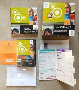 QUARK XPRESS 7.0-7.1 CD's WITH S/N, KEY CODE, MANUALS, ETC., FOR WINDOWS, MAC