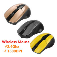 2.4Ghz Wireless Optical Gaming Mouse Mice& USB Receiver 1600DPI For PC Laptop FB