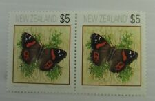 c1995 New Zealand SC #1079 Pair  RED ADMIRAL BUTTERFLY  MNH stamp