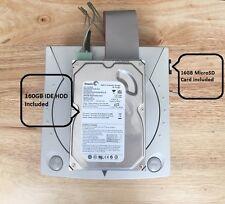 SEGA DREAMCAST Bianco Console VGA IDE HDD SD MULTI regione Reimposta 160GB COMPLETA
