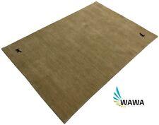 Handloom Gabbeh 170x240 cm Beige Handgewebt Teppich 100% Wolle
