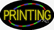 "Brand New ""Printing"" 27x15 Oval Solid/Animated Led Sign w/Custom Options 24069"
