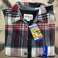 Orvis Ladies Flannel Shirt Jacket, Fleece Lined, sz Large, see measurements