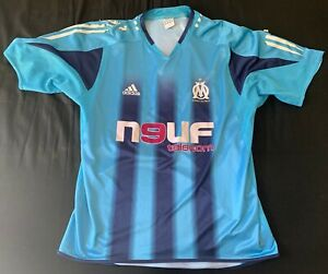 Maillot OM Olympique de Marseille 2004/2005 football vintage Adidas taille L