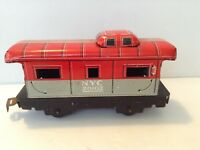 Vintage Marx Toys Tin Lithograph Toy Train Car NYC 20102 Caboose