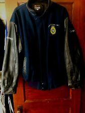 Royal Canadian Corp of Signals Stadium Varsity Jacket Wool/Leather Man's Size XL