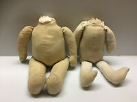 "LOT OF 2PC. VINTAGE CLOTH DOLL BODIES to Make Rag 18"" Tall dolls"