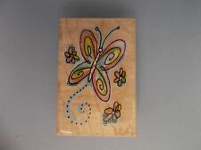 INKADINKADO RUBBER STAMPS BUTTERFLY FLOWERS NEW STAMP