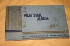 The film star album cigaret cards 1930's