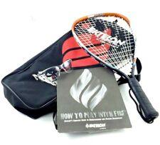 New listing Ektelon Powerfan Energy Longbody Racquetball Titanium Alloy Racket w Accessories