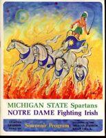 1966 Michigan State v Notre Dame Football Program Game of Century Ex/MT Nice B3