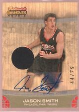 JASON SMITH /79 $15 MINT ROOKIE AUTO 76ERS JERSEY PATCH RC TOPPS TRADEMARK MOVES