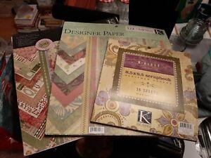 "Lot of K&Co. Scrapbook 12""x12"" , & ""6x6"" Paper Pads Roam, Hannah, Verbena Peabdy"