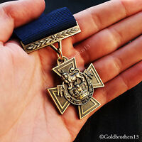 Victoria Cross Royal Navy WW1 British Medal with Blue Ribbon 1918 Naval Repro