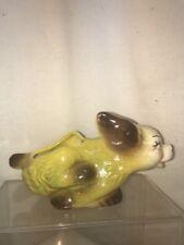 Vtg 1940-50's USA Pottery Art Running Spaniel Pup Dog Planter Flower Vase