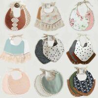 Teething Baby Crochet Cotton Bib Burping Cloths Tassel Dribble Bib Saliva Towel