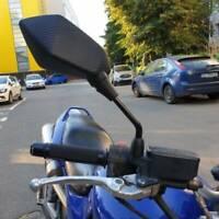 Black Motorcycle Rearview Side Mirrors 10mm For Honda Kawasaki Suzuki Yamaha US