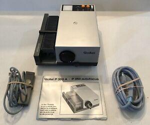 Rollei P350AF Slide Projector 35mm w/ Remote Works Tested