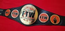 TAZ FTW HEAVYWEIGHT CHAMPIONSHIP REPLICA BELT IN BRASS PLATES,EXCELLENT QUALITY!