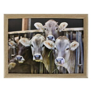 Knietablett Kühe Glücklich Betttablett Laptopablage Schoßtablett Kissentablett