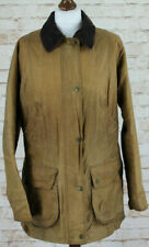 BARBOUR VIntage Advert Beadnell Brown Wax Utility Jacket size Uk 16 AA