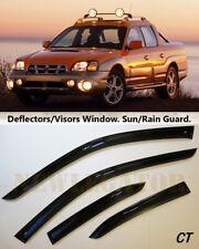 For Subaru Baja 2002-2006, Windows Visors Deflector Sun Rain Guard Vent