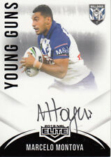 2018 NRL ELITE YOUNG GUNS SIGNATURE CARD - YG3 MARCELO MONTOYA BULLDOGS - #17