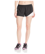 Asics Womens Gunlap 1/2 Split Exercise Running Shorts Black/White Size Xs Xsmall