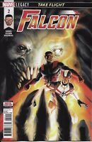 Falcon Comic Issue 2 Marvel Legacy Modern Age First Print 2017 Barnes Rosenberg