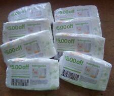 New Lot of 8 Sealed Babyganics Size 1 Diaper Samples Including $5 off Coupons