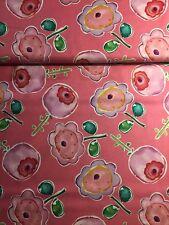 Patchworkstoff Baumwolle Free Spirit Sweet Birdie Flower Kathy Davis Pink Grün