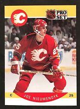 1990-91 PRO SET HOCKEY JOE NIEUWENDYK CORRECTED NAME CARD #42 FLAMES NMT/MT-MINT