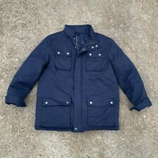 TOMMY HILFIGER - Navy Blue Insulated Quilted-Lining Winter Coat, Mens LARGE
