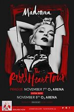 "Madonna ""The Rebel Heart Tour"" 2015 Prague Concert Poster- Pop,Dance,Electronica"
