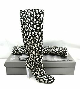 Max Mara Floral Print Knee-High Boots / Shoes - M15C113 Size 8 US / 38 IT