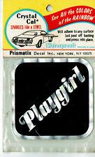 Vintage Prismatic sticker 70's Black Playgirl Feminist Sexy Retro Van Hot Rod