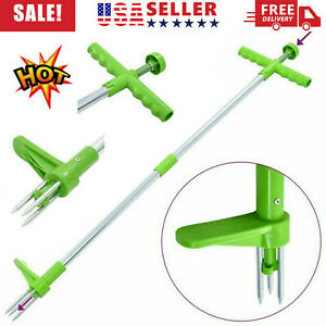 Weed Puller Weeder Twister Twist Pull Garden Lawn Root Killer Remover Tool US