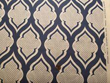 1yd Christopher Farr Cloth Michael Szell Venecia 100%Linen Hand Print Fabric Bty
