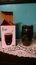 Stainless Coffee Travel Mug Camera Lens NIB New in Box Thermos w lid EF 24-105mm
