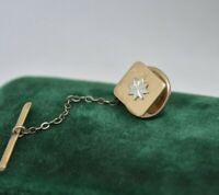 Vintage Sterling silver Lapel pin Art Deco Peaky Blinders Tie Stud #P887