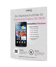 6x Displayschutzfolie für Samsung I9100 Galaxy S2 II Clear Klar Schutzfolie