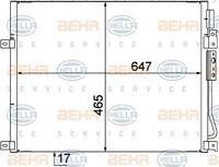 8FC 351 309-111 HELLA Condenseur Air Conditionné