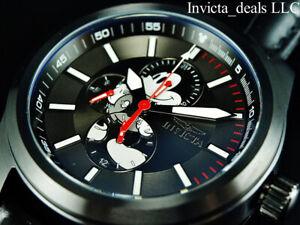 Invicta Disney® 46mm Mickey Mouse Quartz Multi Function Ltd Ed Black Tone Watch
