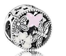 Authentic Pandora Sterling Silver Springtime Charm Bead 791842ENMX