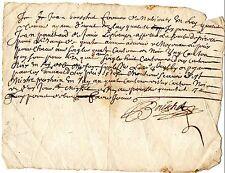 3/ REGION AUVERGNE / DOCUMENT MANUSCRIT 1680 Latin Vieux Français