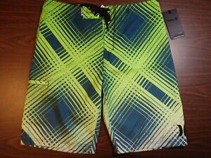 Hurley Men's Board Shorts - Blue/Yellow Pattern - 00166